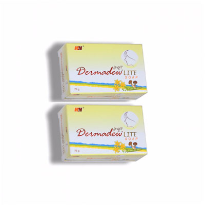 Dermadew Lite soap 75g pack of 2