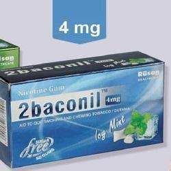 2baconil 4mg nicotin gum icy mint 50gums