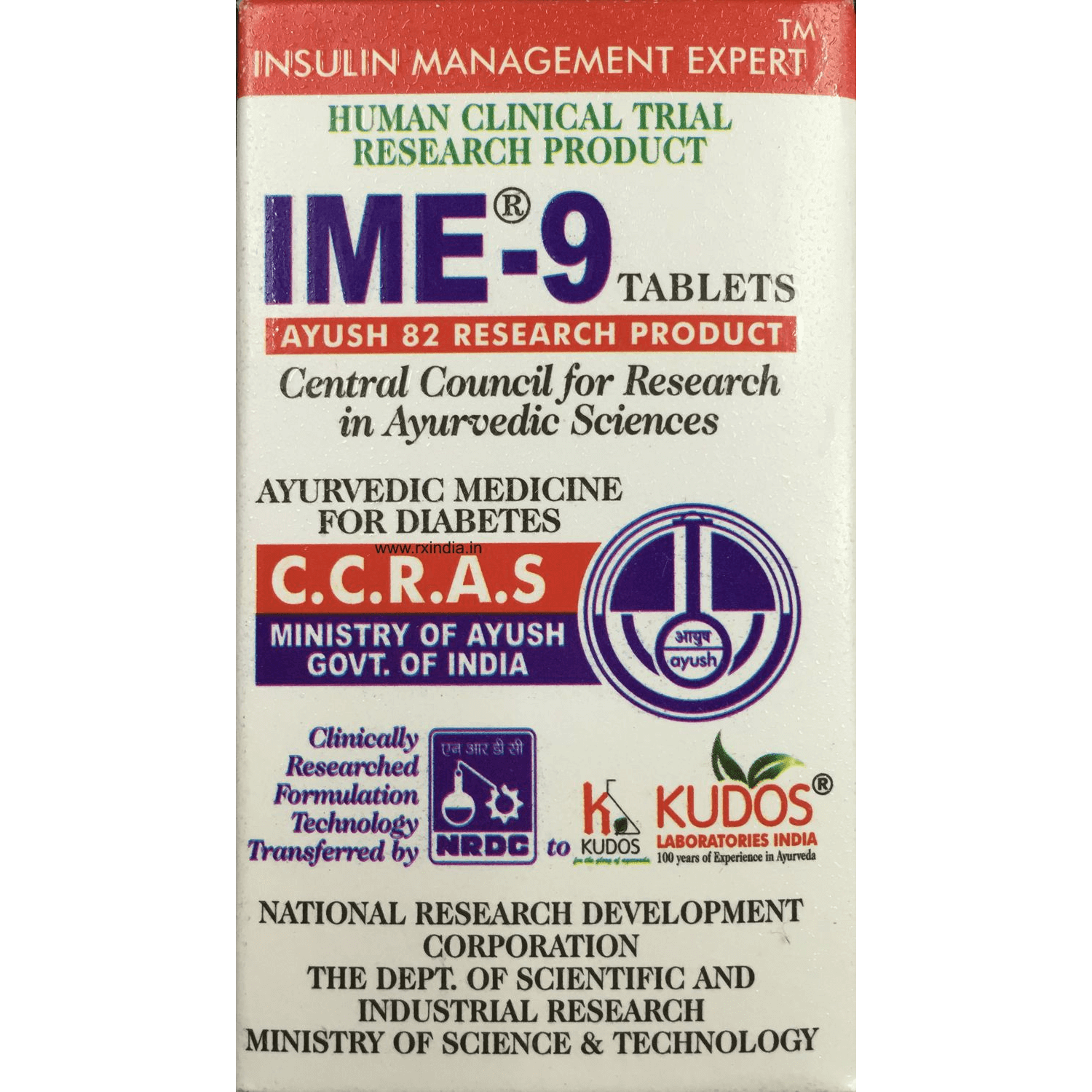 IME9 Insulin management 60 tablets