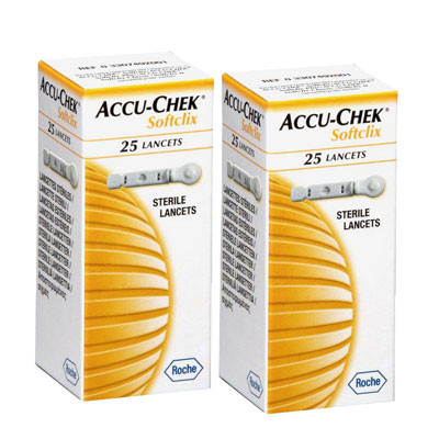 Accu Check Softclix Lancets-25 pack of 2