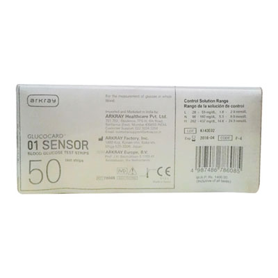 Glucocard 01 Sensor Blood Glucose 50Test Strips