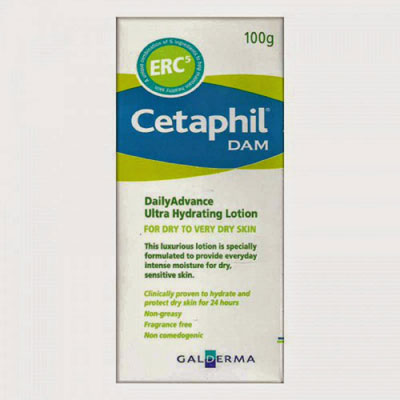 Cetaphil DAM lotion 100g for Dry to very dry Skin