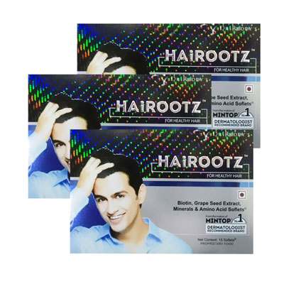 HairRootz For Healthy Hair 15 Soflets Pack Of 3
