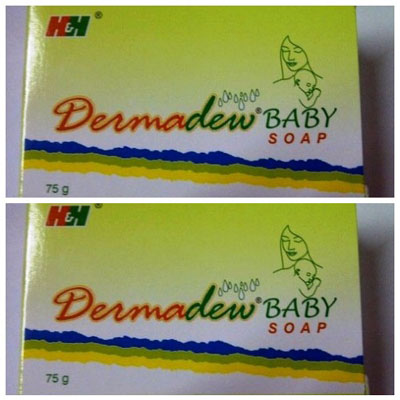 Dermadew Baby Soap 75g pack of 2