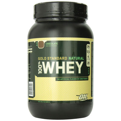 Optimum Nutrition  Whey Gold Standard Natural Whey  2 lbs Natural Chocolate