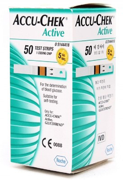 Accu Chek Active Strips 50s