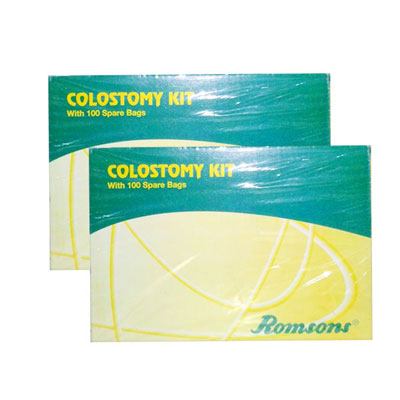 Romsons Colostomy Kit 100 Spare Bags Pack Of 2 Adult