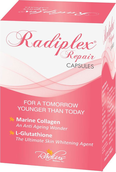 Radiplex Repair  LGlutathione with Collagen Anti Ageing Capsules