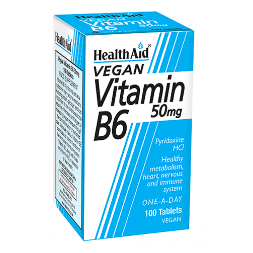 Vitamin B6 50mg  100 tablets
