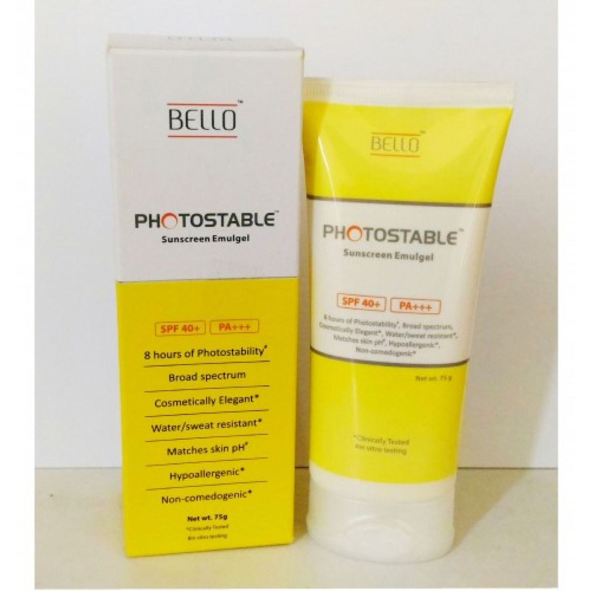Bello Photostable Sunscreen Gel SPF 40 PA 75g