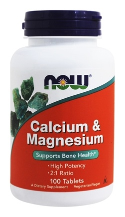 Calcium and Magnesium High Potency  100 Tablets by NOW
