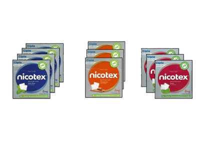 Nicotex Nicotine Pan Mint Plus Cinnamon Gums 2 mg  10s  pack