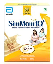 SimMom IQ with DHA vanilla delight flavour