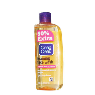 CLEAN and CLEAR FOAMING FACE WASH 150ML PACK OF 2