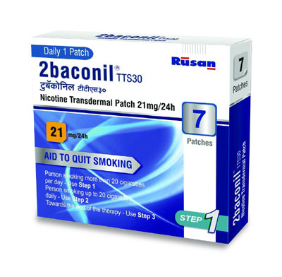 2baconil Nicotine Transdermal Patch  21mg