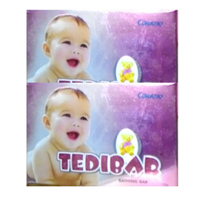 TEDIBAR  Bathing Bar 75 gm Pack Of 2