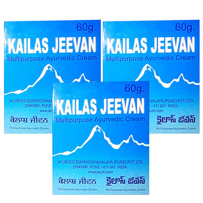 Kailas Jeevan 60 gm pack of 3