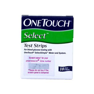 One Touch Select 10s Strips