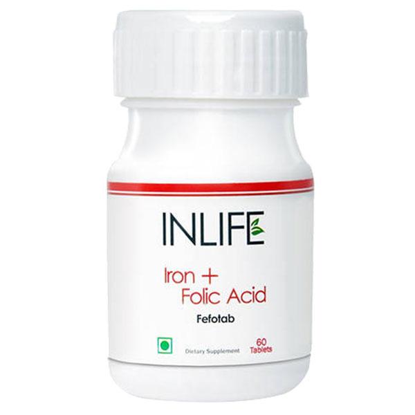 Inlife Iron Plus Folic Acid 60Tablets