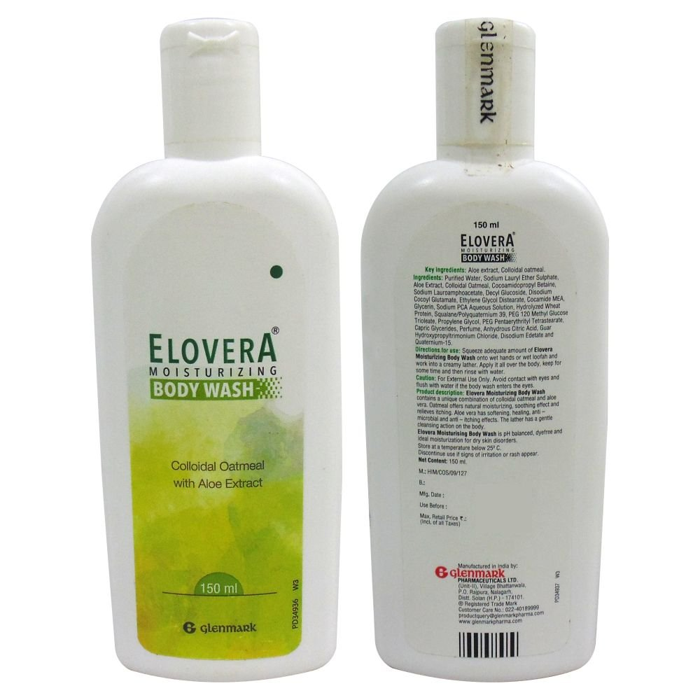 Glenmark Elovera Bodywash 150ml pack of 2
