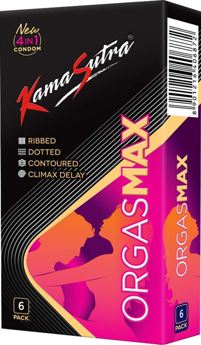 KAMASUTRA  ORGASMAX 6`S PACK 4 IN 1 CONDOM