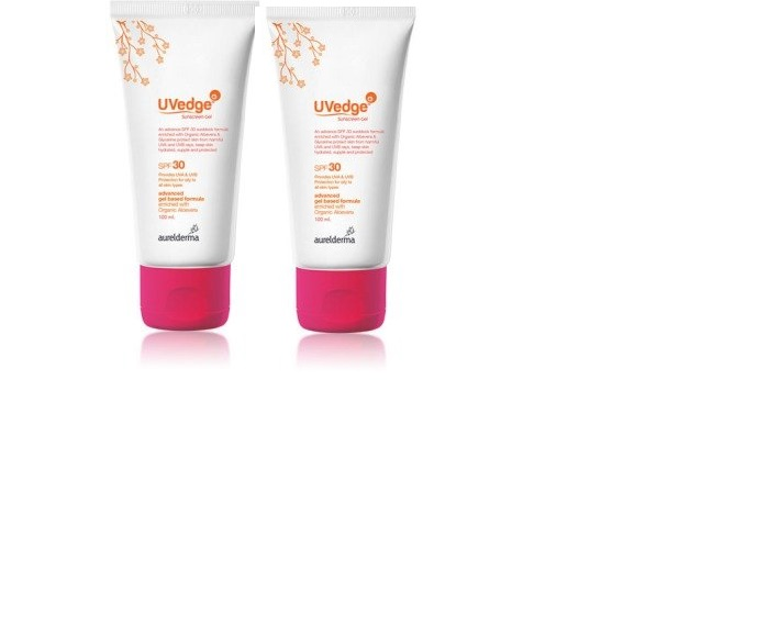 UVedge SPF 50 Sunscreen gel 50 gm pack of 2