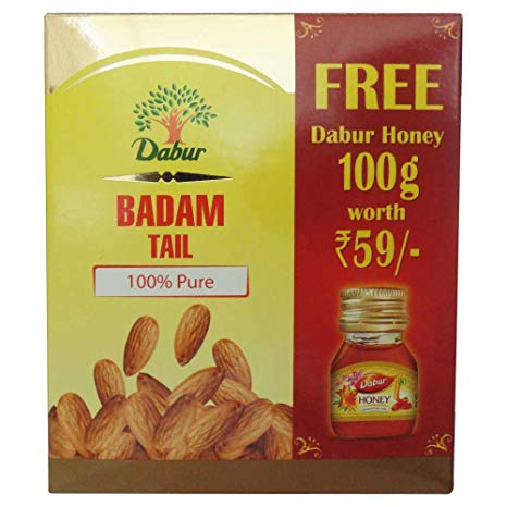 Dabur Badam Tail 100ml and Free Dabur Honey 100g Worth 59
