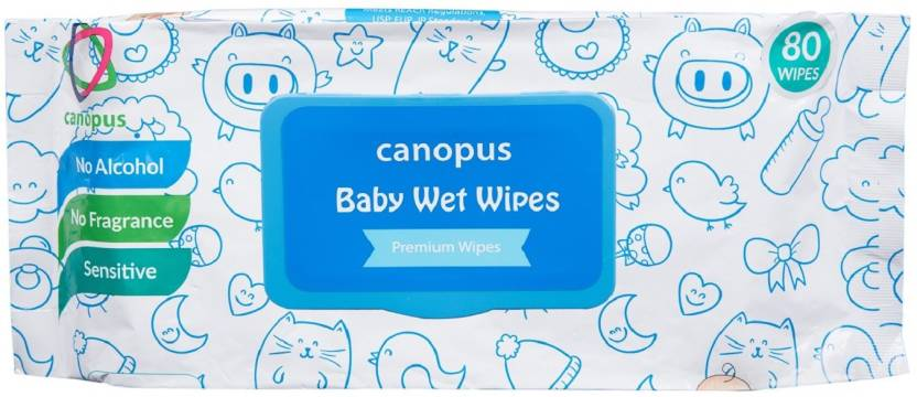 canopus baby wet wipes 80 wipes