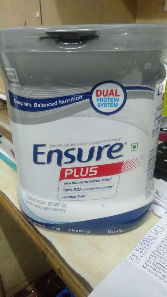 Ensure  plus Vanilla flavour 1kg  -Ensure Vanilla flavour 1kg