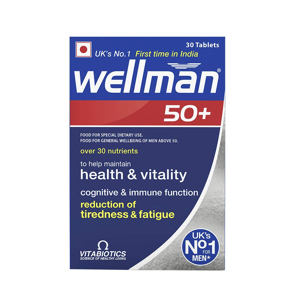 Wellman 50plus Health Supplements (More than 30 Nutrients)  30 Tablets
