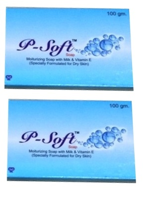 P soft soap 100gm pack of 2