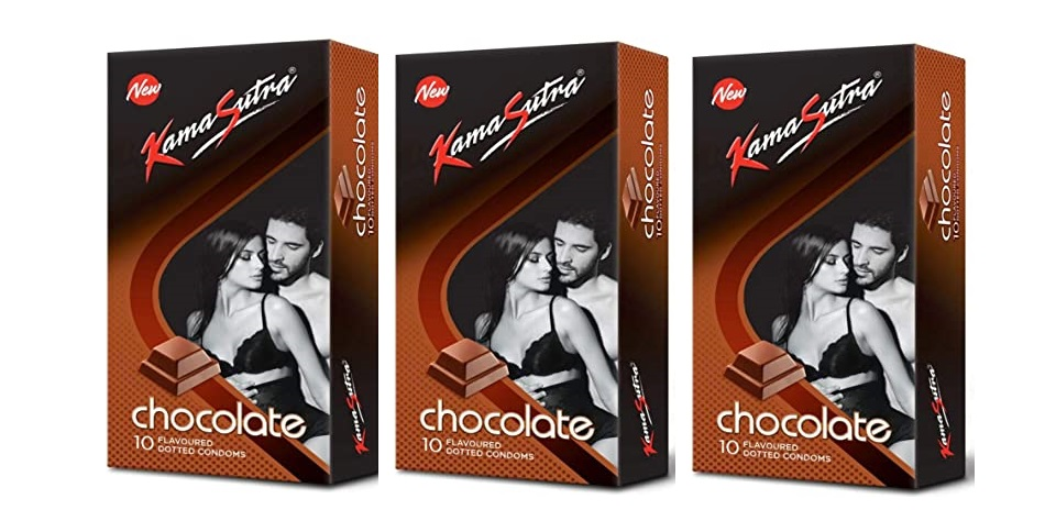 KAMASUTRA CHOCOLATE FLAVOURED 10`S CONDOMS (PACK OF 3)