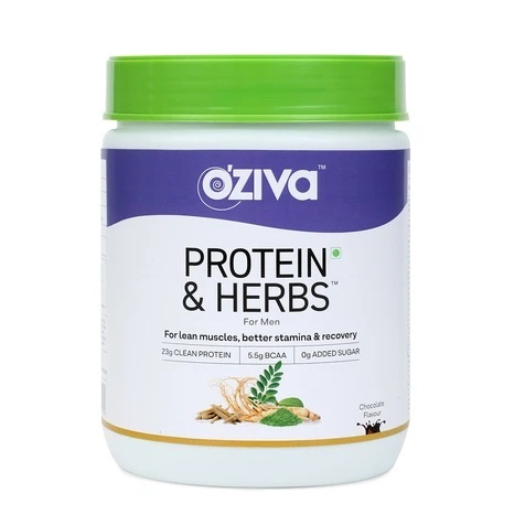 OZiva Protein and Herbs  Men  Whey Protein with Ayurvedic Herbs and Multivitamins