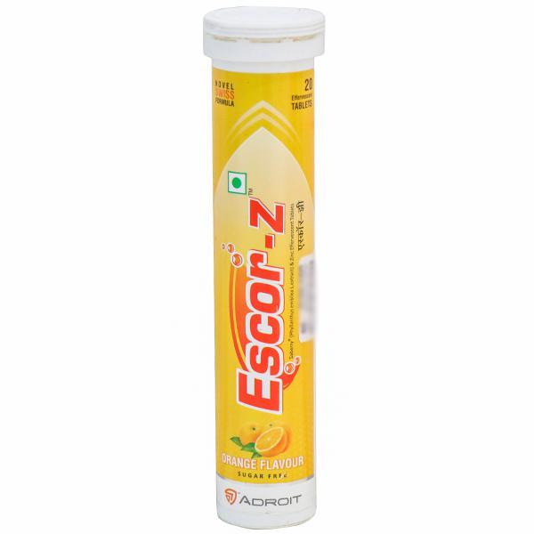 ESCOR-Z ORANGE FLAVOUR 20 TABLETS