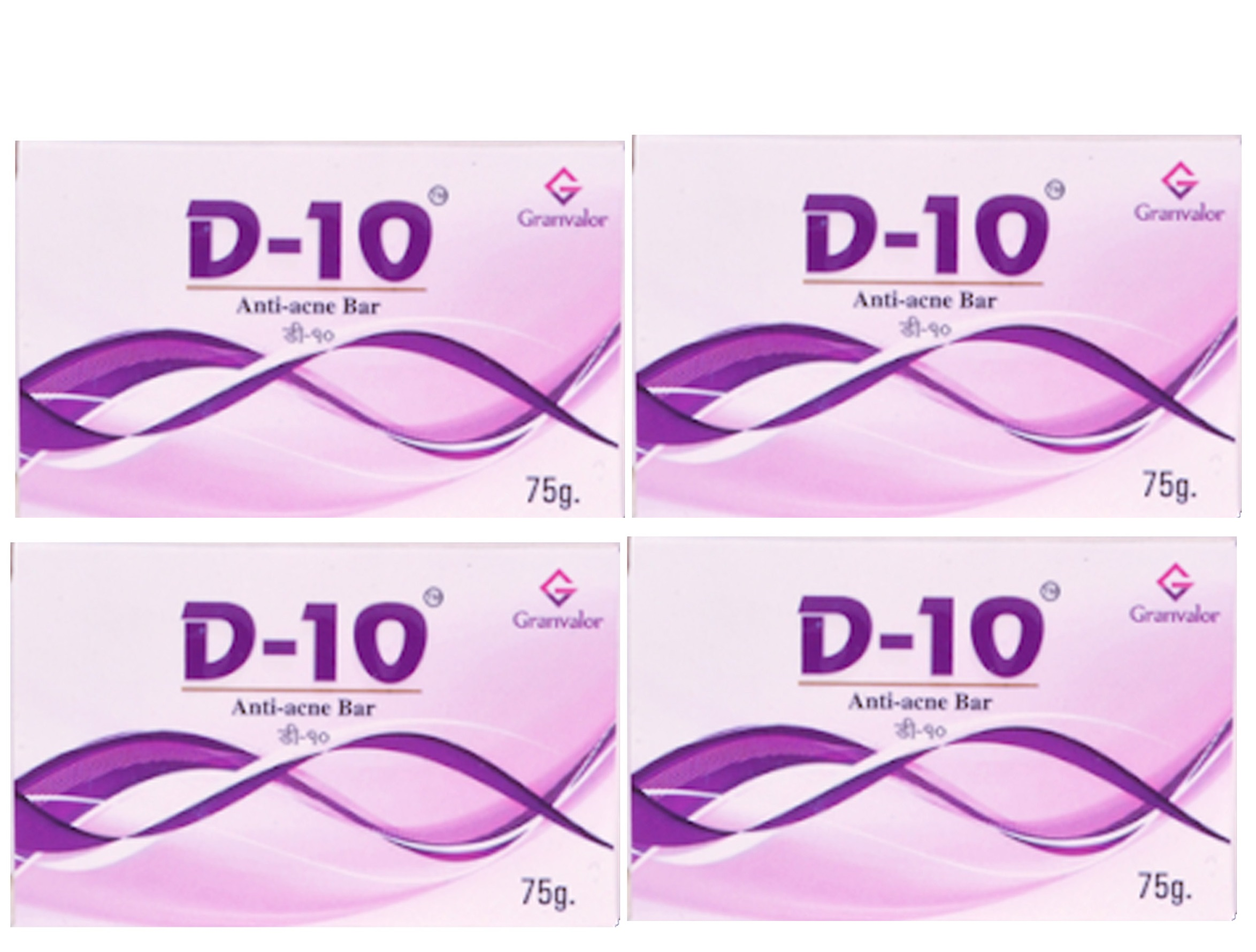 D 10  Anti acne Bar Pack of 4  75g