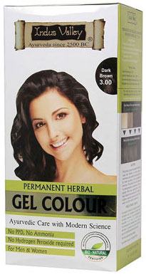 Indus Valley Permanent Herbal Hair Colour- Dark Brown Kit