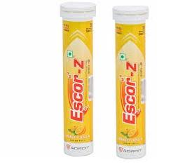 ESCOR Z Orange Flavour 20 Tablets Pack of 2