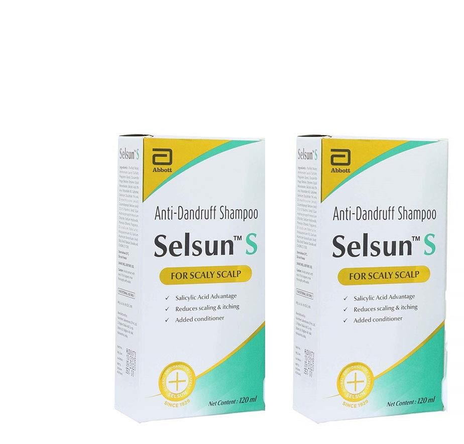 Selsun S Anti Dandruff Shampoo 120ml Pack Of 2