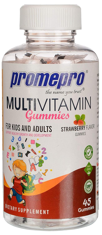 Promepro Multivitamin Gummies - Strawberry Flavor, 45 Gummies