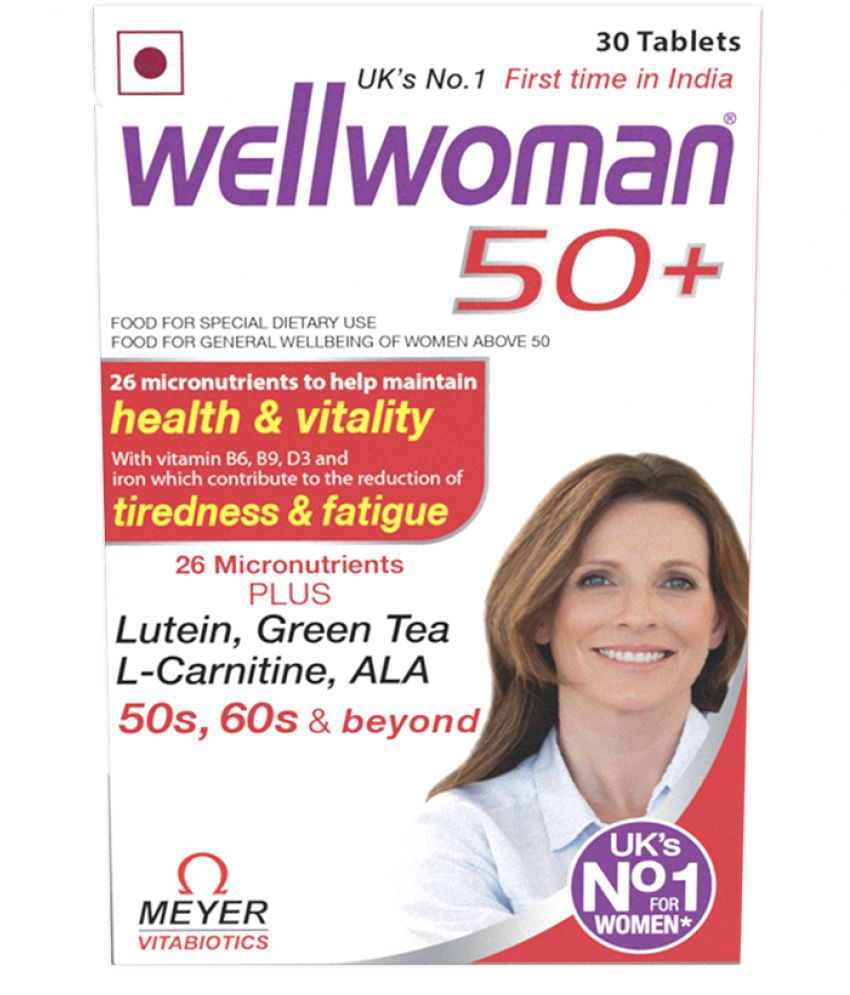 Wellwoman 50plus  Health Supplements  26 Vitamins and Minerals 30 Tablets