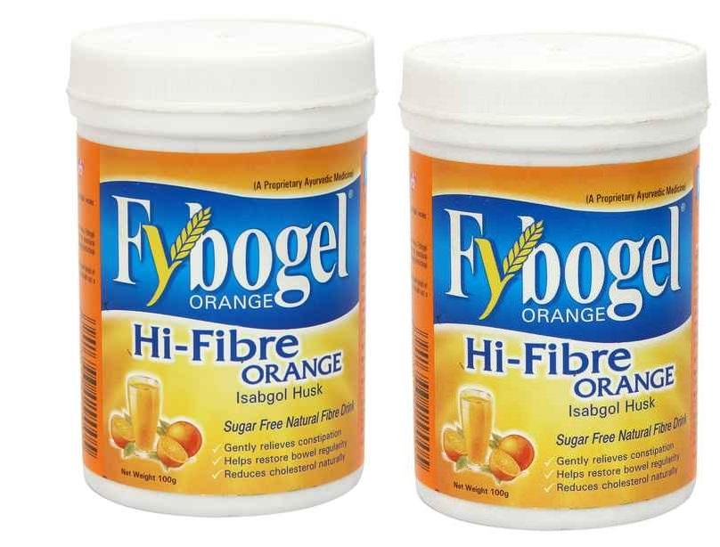 Fybogel Hi-Fibre Isabgol Husk Powder Orange Flavour 100ml Pack Of 2