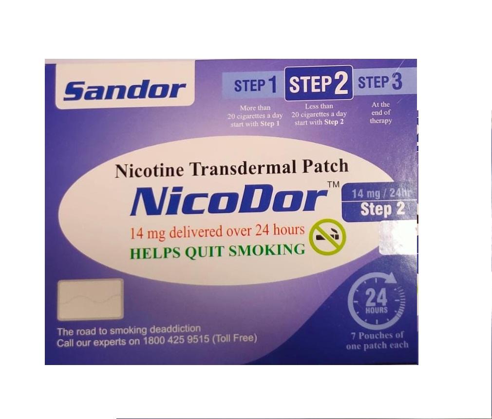 Nicodor Nicotine Transdermal Patch STEP 2