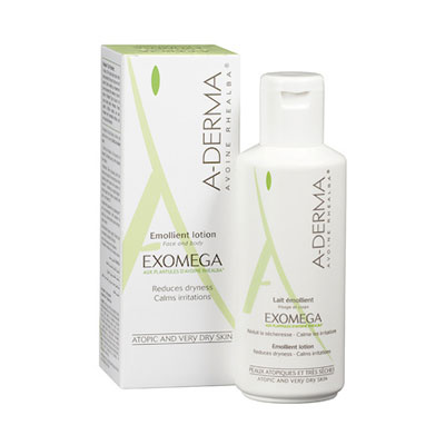 ADerma Exomega Emollient lotion 100ml for face and body