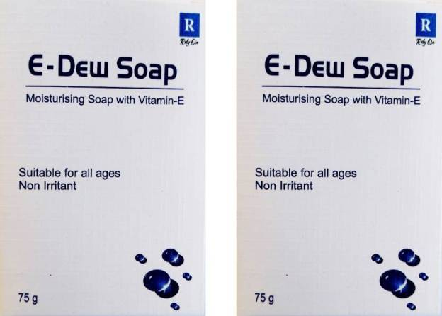 E Dew soap 75gm pack of 2