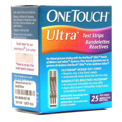 One Touch Ultra Test Strips 25