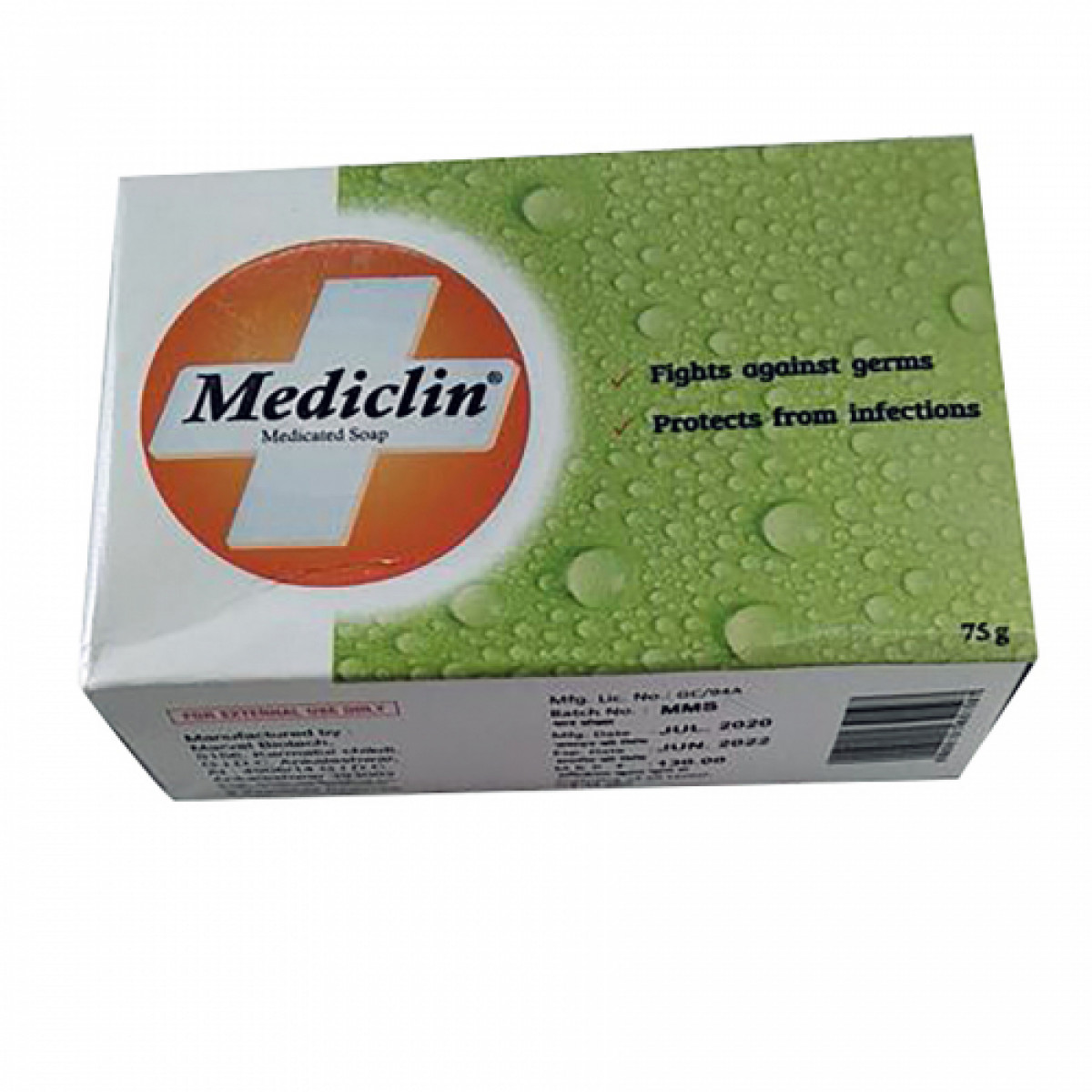 MEDICLIN SOAP  75GM Pack Of 2