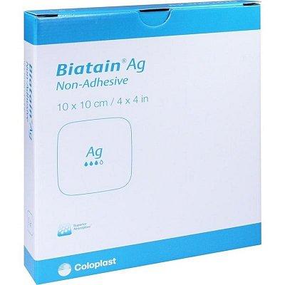 Biatain Ag Non Adhesive 10 X 10 Cm 9622