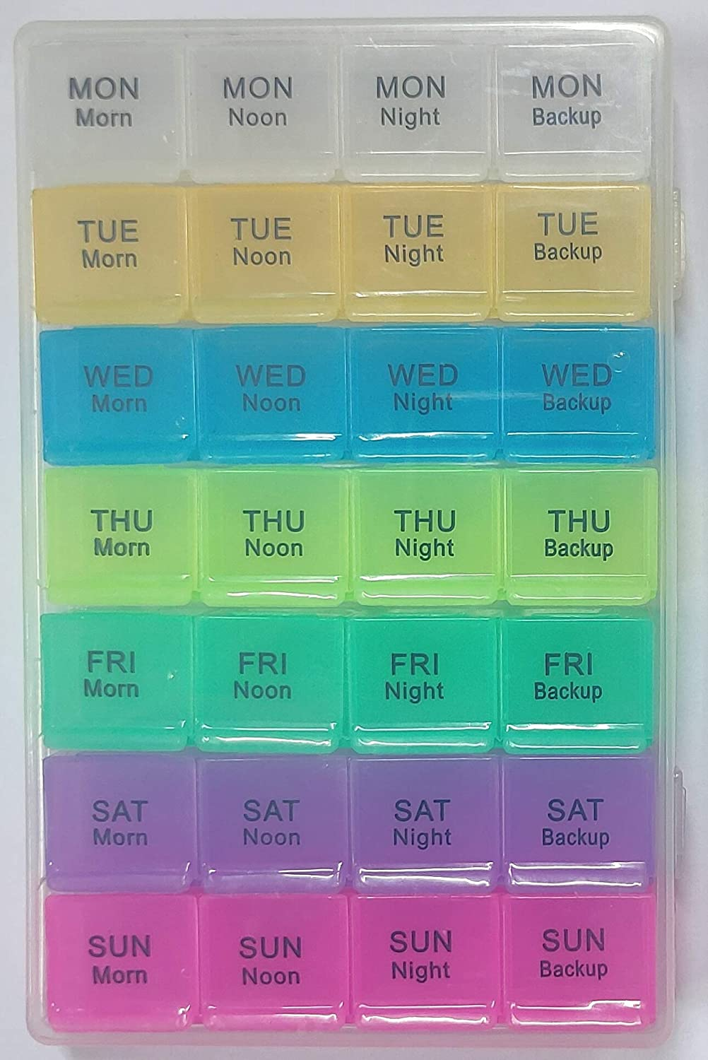 Promepro Pill Organizer Medicines Tablet Dispenser and Reminder Travel Storage Box for 4