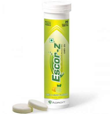 ESCOR-Z (Vit c ,Zinc, Effervescent tablets) 20`s