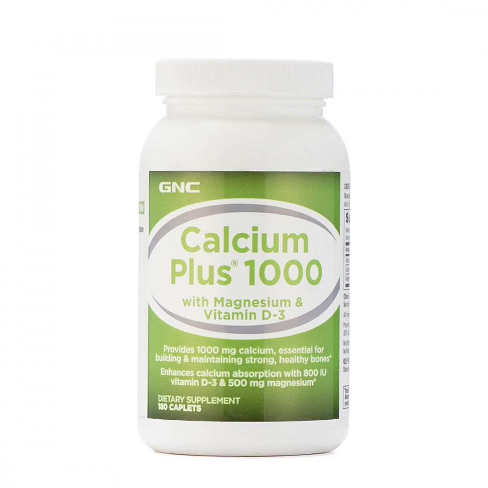 GNC CALCIUM PLUS 1000 WITH MAGNESIUM  VITAMIN D3